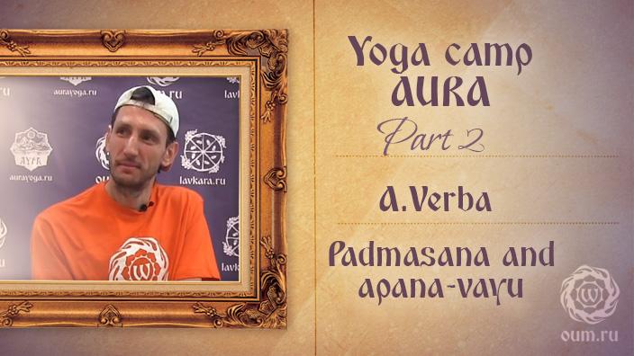Padmasana and apana-vayu. Andrey Verba