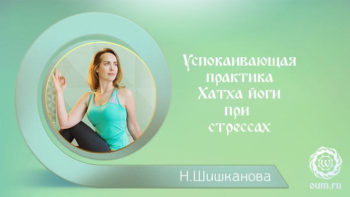 Успокаивающая практика Хатха йоги при стрессах. Надежда Матюхина