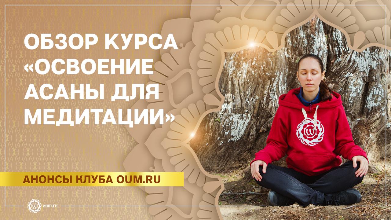 Обзор занятий курса «Освоение медитативной асаны» на asanaonline.ru Екатерина Андросова