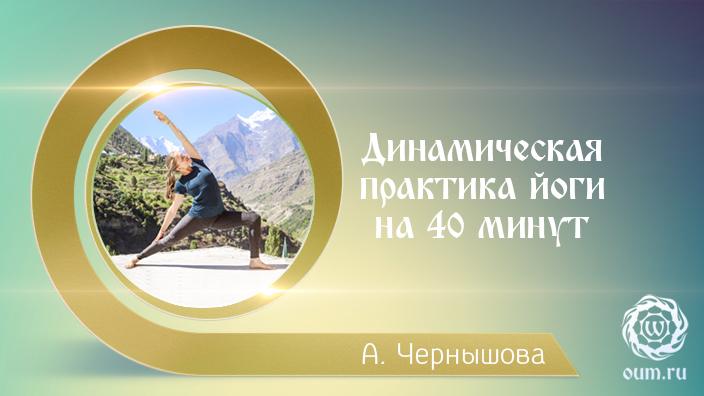 Динамическая практика йоги на 40 минут. Алёна Чернышова