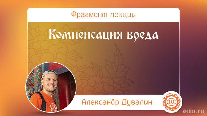 Компенсация вреда. Александр Дувалин