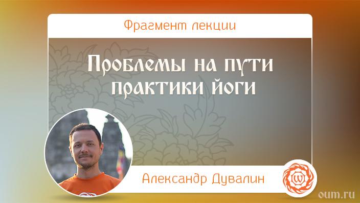 Проблемы на пути практики йоги. Александр Дувалин