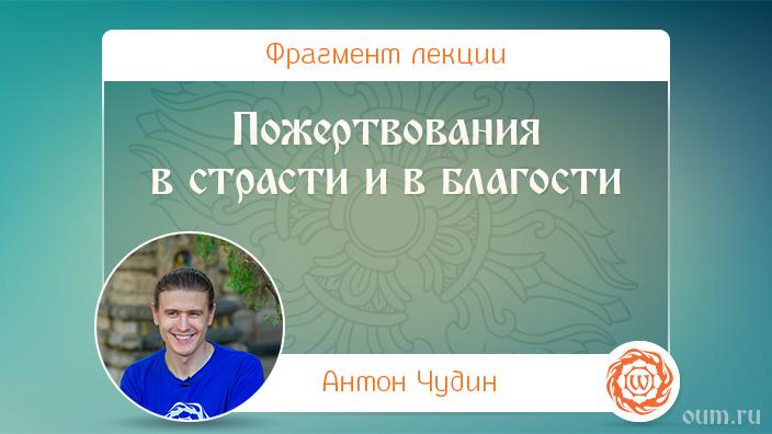 Пожертвования в страсти и в благости. Антон Чудин